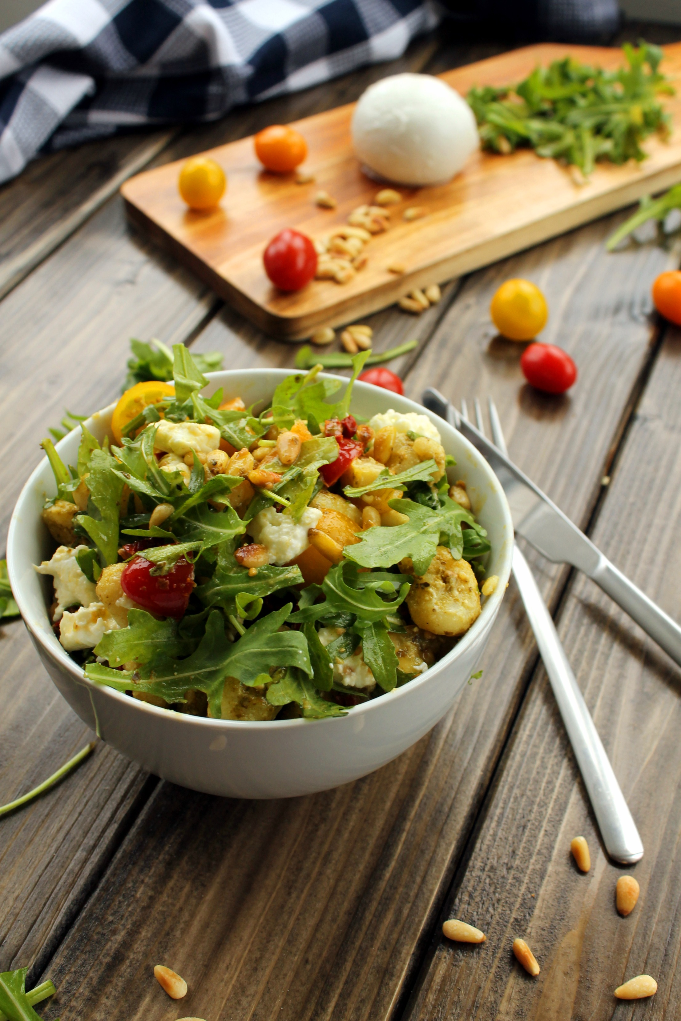 Healthy Pesto Gnocchi Salad 1000 Lovely Things