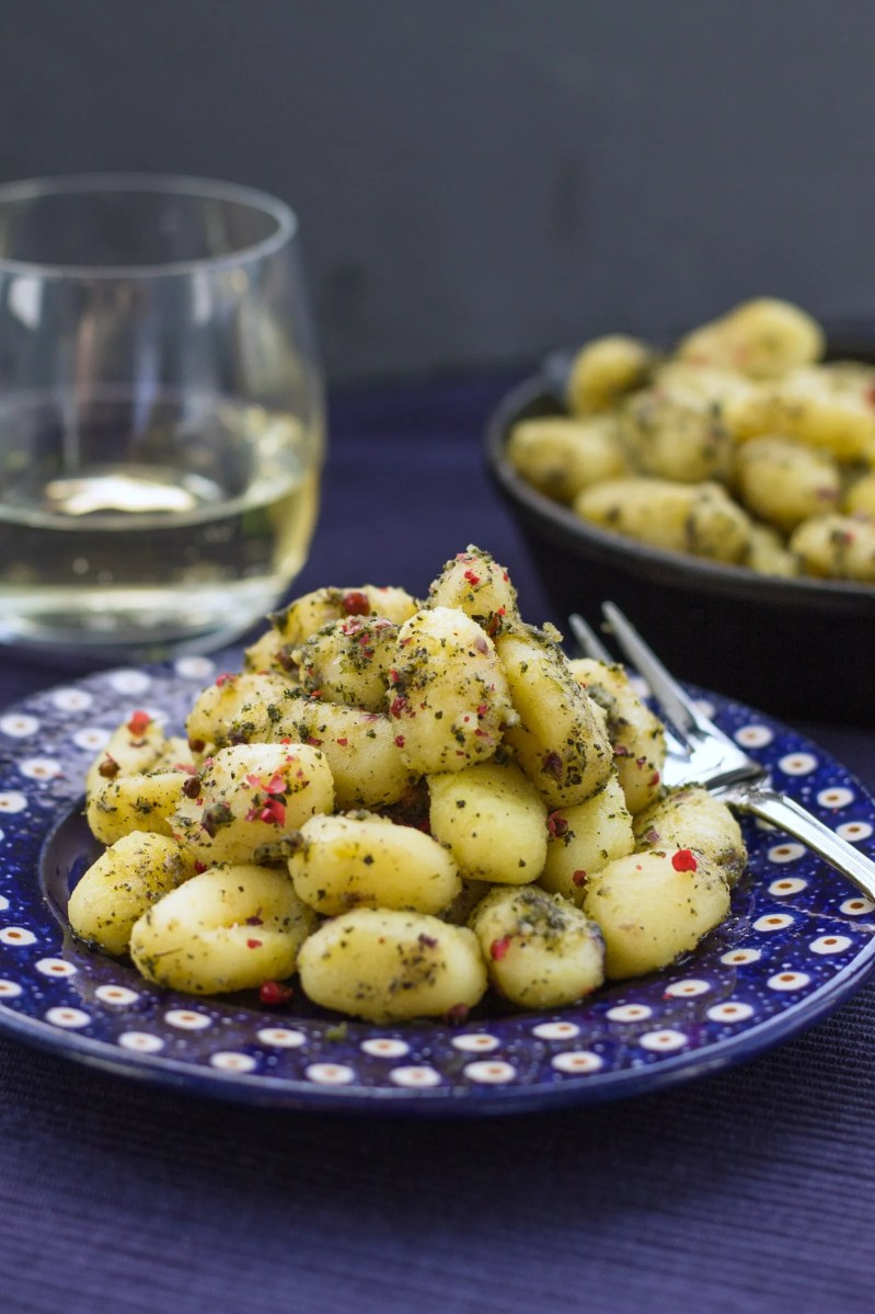 A tender and gooey Gnocchi in Sage Butter recipe that tastes amazingly buttery with just the right hint of herbs. Italy on your plate wherever you are!