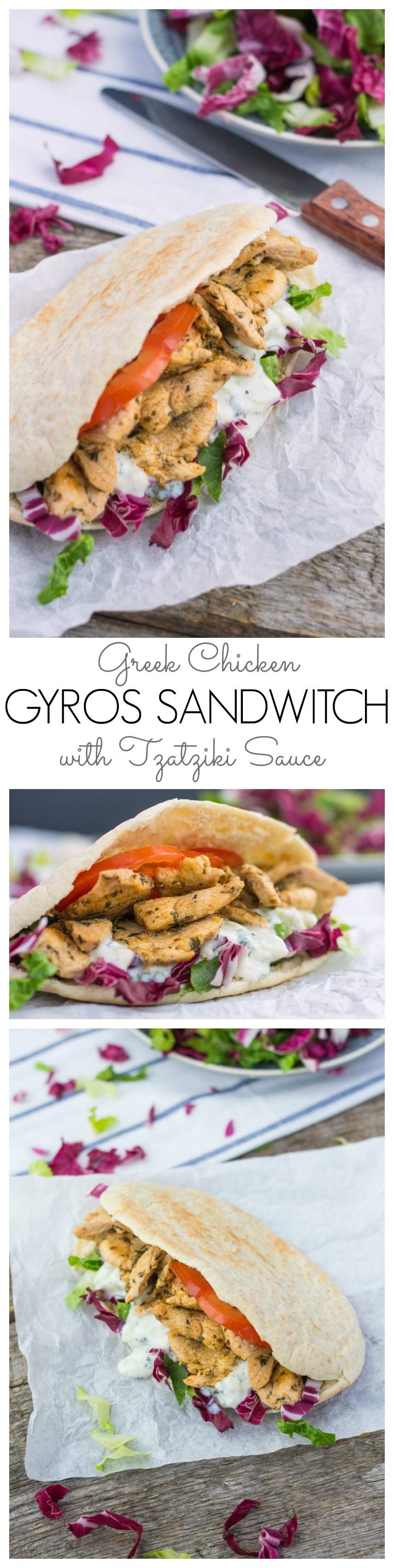 Greek Chicken Gyros Sandwitch