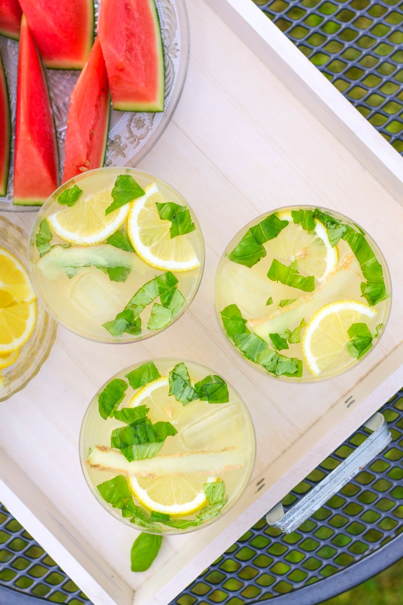 Lemon Basil Moscow Mule- summer recipes