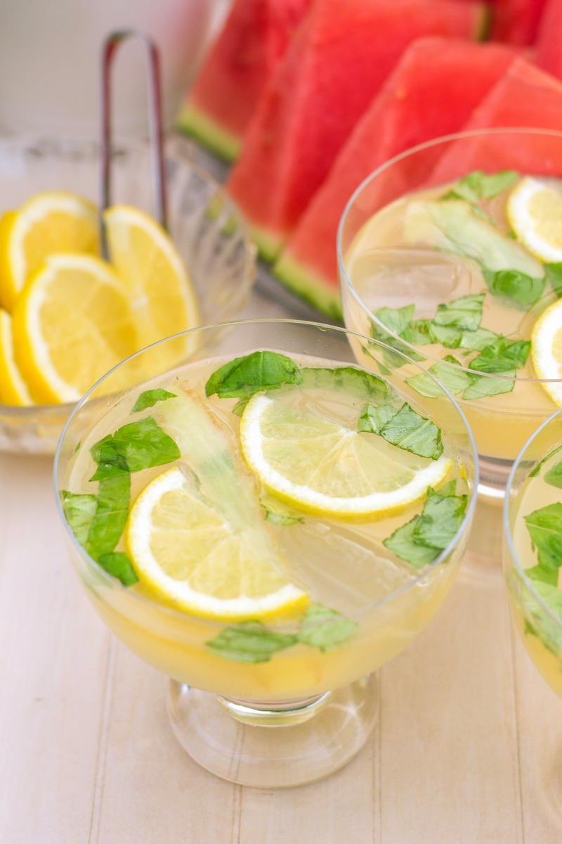 Lemon Basil Moscow Mule