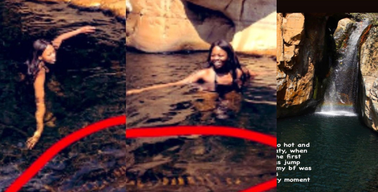 See How A Lady Jumped Into A Pool Of Snakes Unknowingly