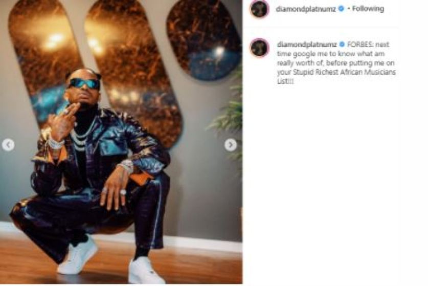 Diamond Platnumz Reacts To His Ranking By Forbes
