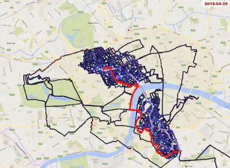 自転車通勤の楽しみ方。4年半かけてロンドン中心部の全ての通りを走破した男の記録。