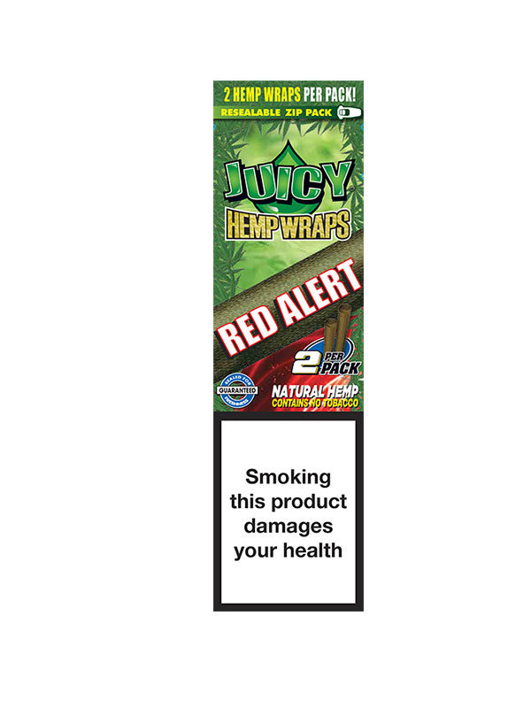 Hemp Wraps Juicy Jay`s Red Alert, 2 pro Pack