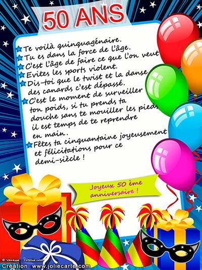 Joyeux Anniversaire 50 Ans Humour : joyeux, anniversaire, humour, Carte, Anniversaire, Imprimer, Humour, Kasha