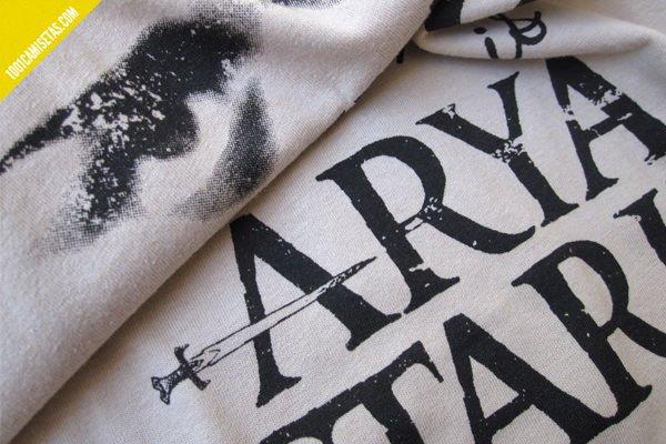 Camiseta Arya Stark serigrafia