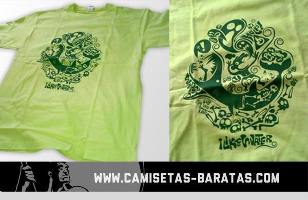 Camiseta serigrafía 1 tinta