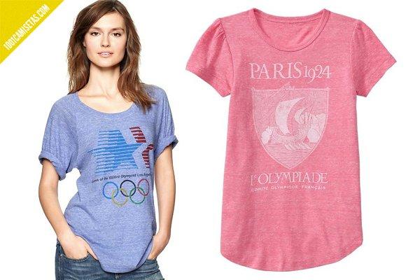 Camisetas juegos olímpicos vintage chicas