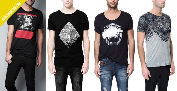 Camisetas estampadas zara