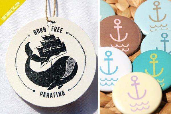 Etiquetas personalizadas Parafina
