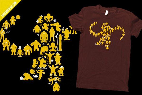 Camiseta monos