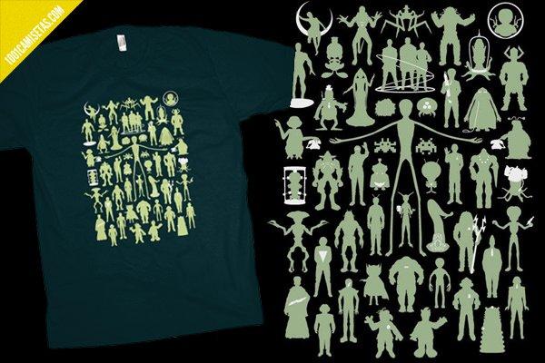 Camisetas alien fluorescente