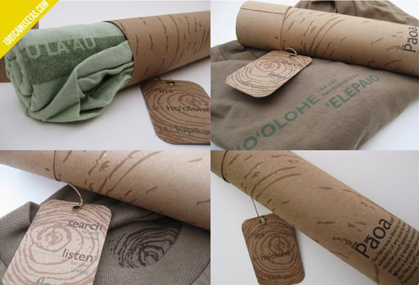 Packaging ecologico camisetas paoa