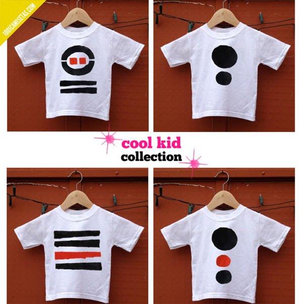 Camisetas infantiles estampadas
