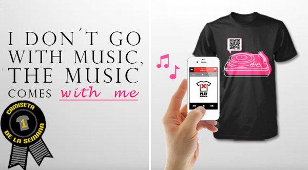 Camiseta de la semana Pink Music