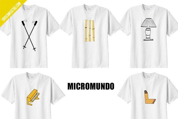Camisetas hipsters micromundo
