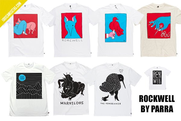 Camisetas Rockwell by Parra