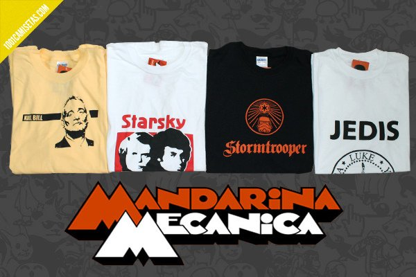 Camisetas mandarina mecánica