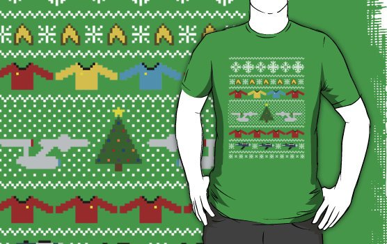 Camiseta star trek navidad