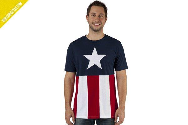 Camiseta bandera capitan america