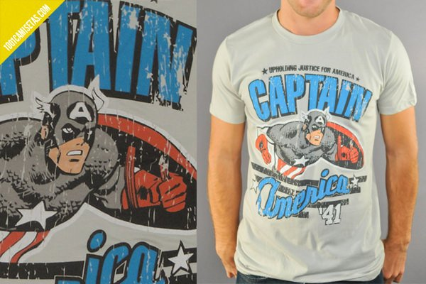 Camiseta vintage capitan america