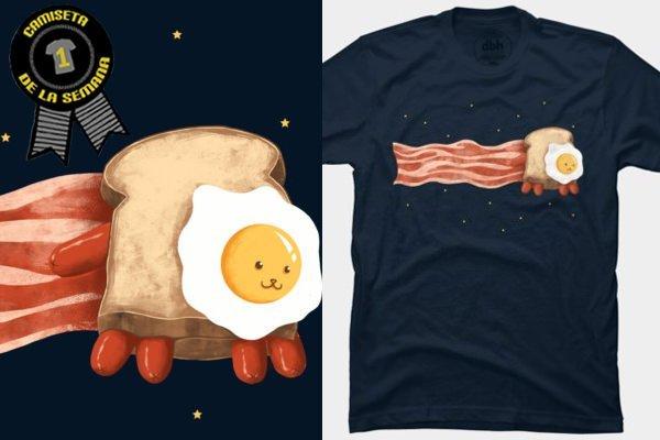 Camiseta de la semana nyan bacon