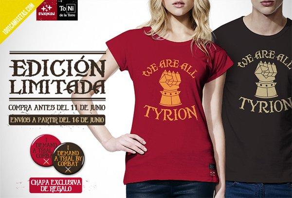 Camiseta tyrion toni de la Torre