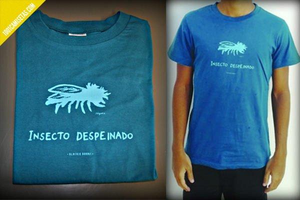 Camiseta insecto despeinado