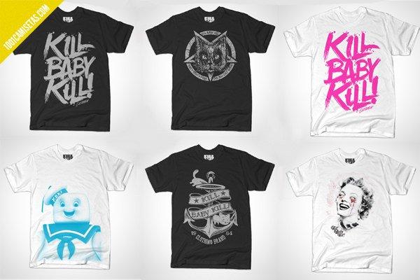 Camisetas gráficas diseño