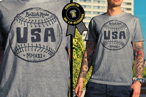 Camiseta de la semana baseball tee