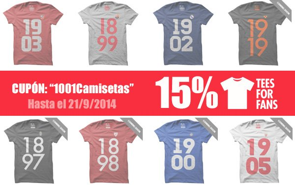 Descuento tees for fans