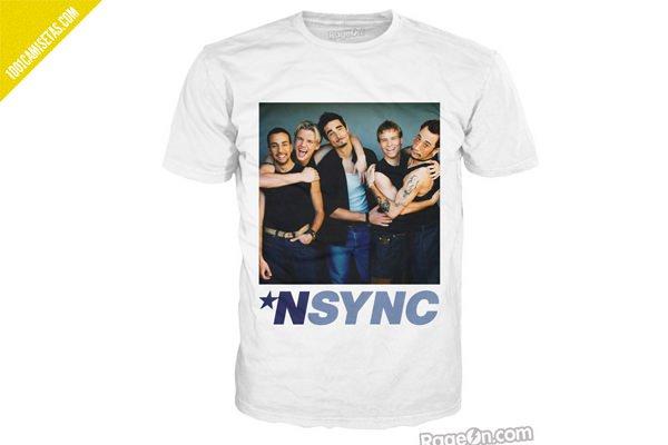 Camiseta Nsync backstreet-boys