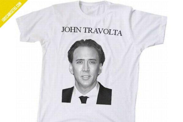 Camiseta nicholas cage john travolta