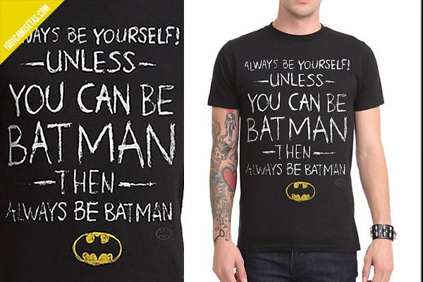 Camiseta batman divertida