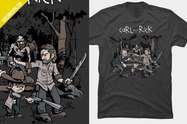 Camiseta carl and rick