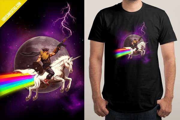 Camiseta unicornio awesome