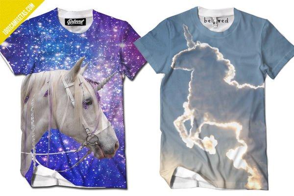 Camisetas full print unicornios