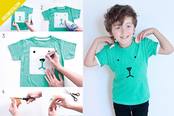 c5422566a Camisetas pintadas a mano para niños - 1001 Camisetas
