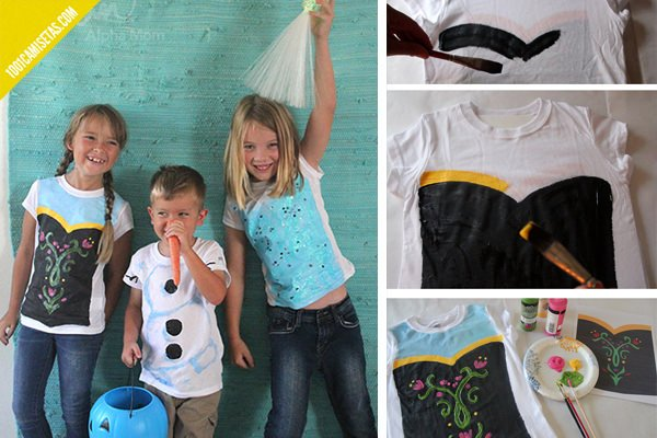 Tutorial camisetas frozen