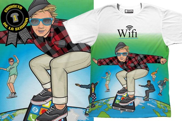 Camiseta de la semana wifi