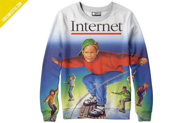 Sudadera internet fullprint