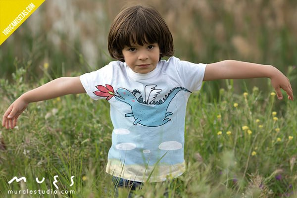 Camisetas infantiles pintadas-a-mano