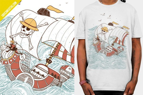 Camisetas one piece thousand sunny