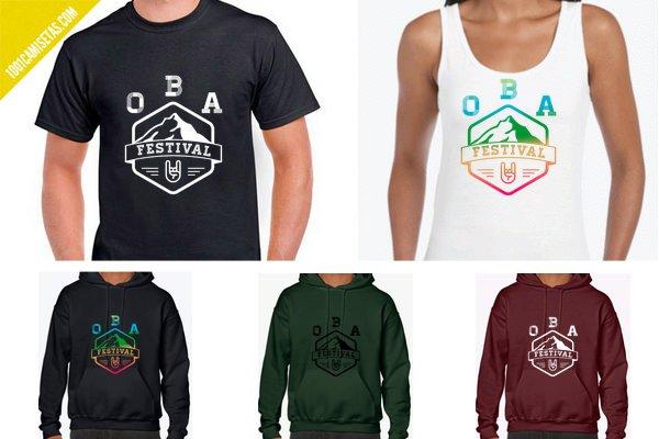 Camisetas oba festival