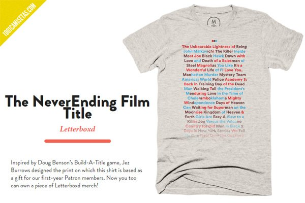 Camiseta letterboxd
