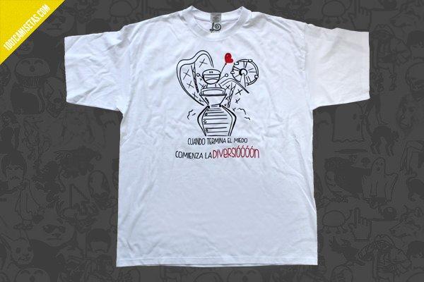 Camiseta montaña rusa