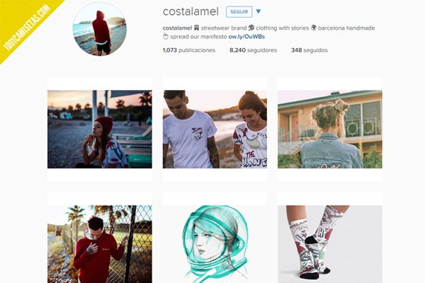 Camisetas costalamel instagram