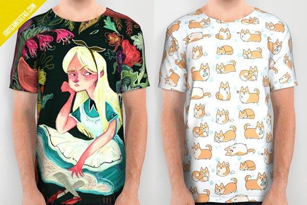 Camisetas full print alicia país de las maravillas
