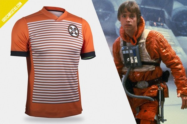 Camiseta fútbol luke skywalker